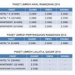 Harga paket Umroh Ramadhan