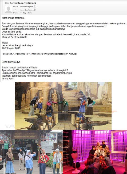Paket Tour Bangkok Pattaya 5 Hari 4 Malam | SENTOSA WISATA