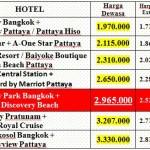 Harga Tour Cartoon Network Pattaya 4D3N