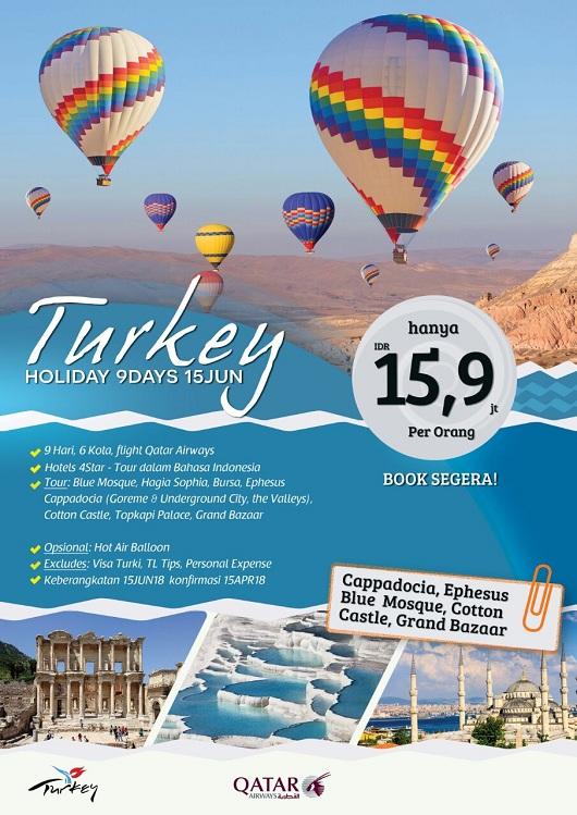 Paket Tour Turki Lebaran 2018