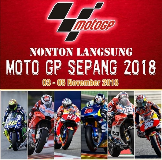 Paket Nonton Moto GP Sepang 2018
