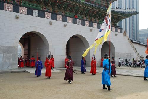 Gyeongbokgung Palace with Guard