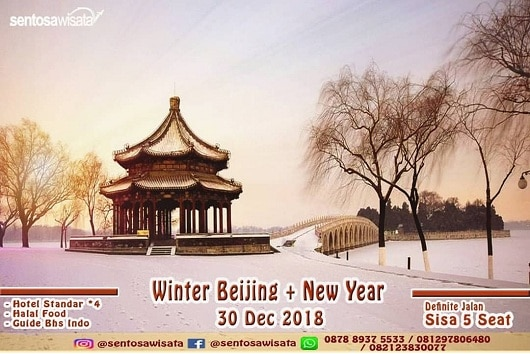 Paket Tour Beijing China Desember 2018