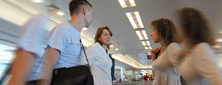 talk in airport