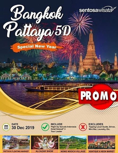 Tour Bangkok Pattaya New Year 2020