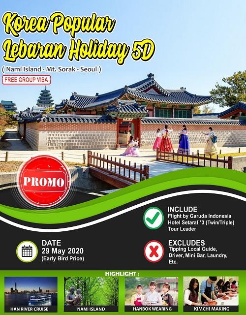 KOREA POPULAR LEBARAN HOLIDAY 5D